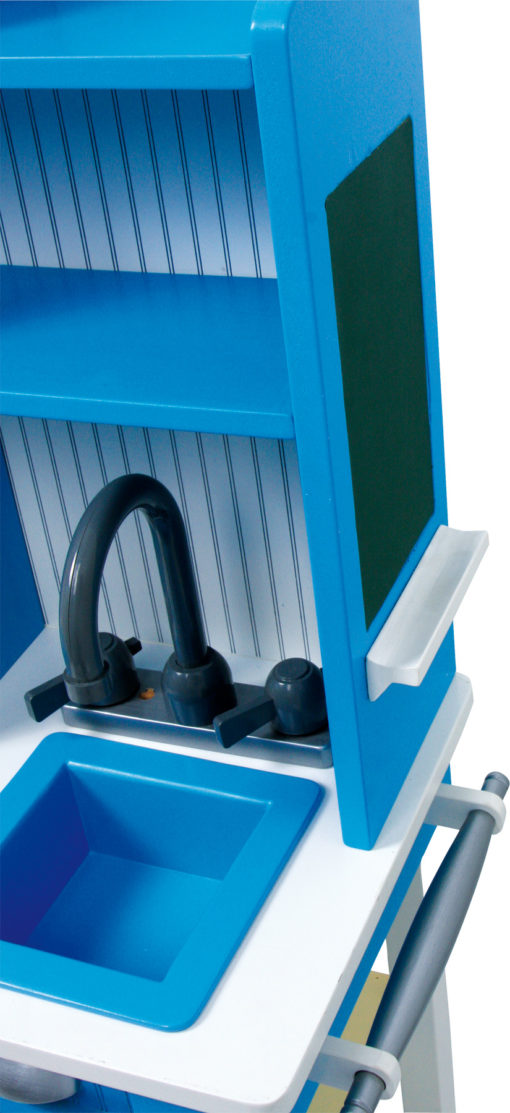 Spielküche Landhaus blau 2
