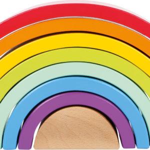 Regenbogen aus Holz mittel 2