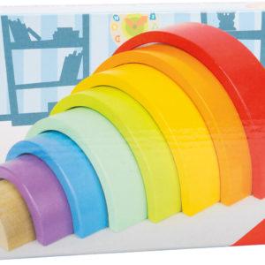 Regenbogen aus Holz mittel 4