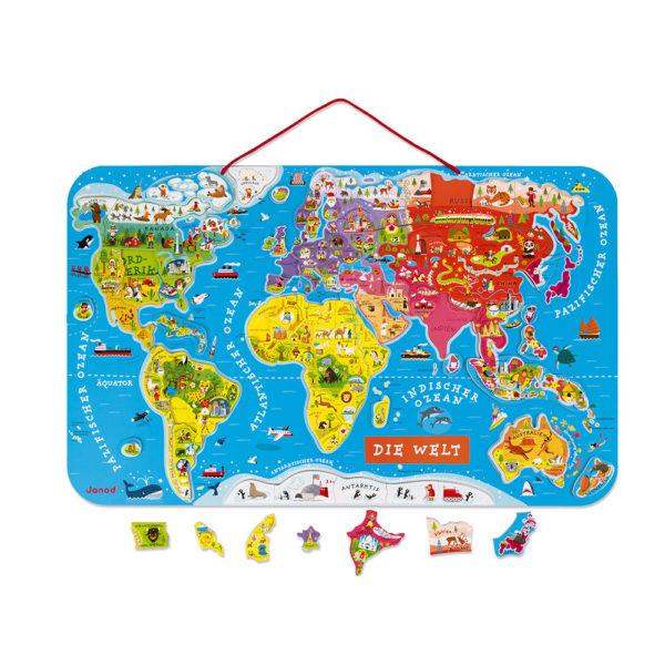 """JANOD Magnetische Landkarte """"Die Welt"""" 1"""