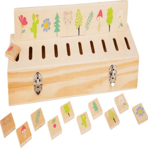 Lernspiel Bildersortierbox aus Holz