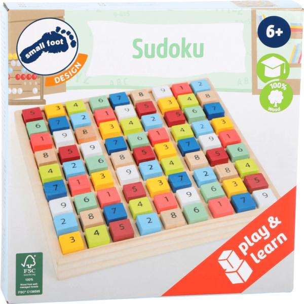 Buntes Sudoku aus Holz