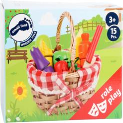 Einkaufskorb für Kinder mit Schneide-Lebensmittel 3