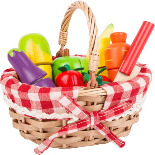 Einkaufskorb für Kinder mit Schneide-Lebensmittel 1