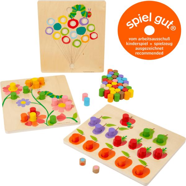 Raupe Nimmersatt Farbsortierspiel für Kinder