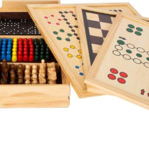 Gesellschaftsspiele aus Holz