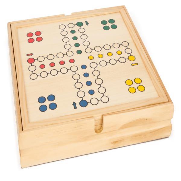 Spielesammlung aus Holz