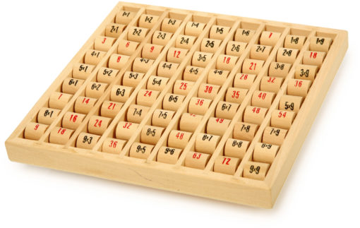 Multipliziertabelle aus Holz 1