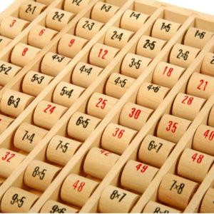 Multipliziertabelle aus Holz 2