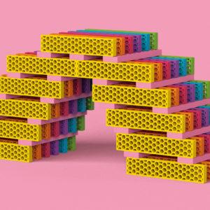"""bioblo BIG BOX """"Multi-Mix"""" mit 340 Bausteinen 3"""