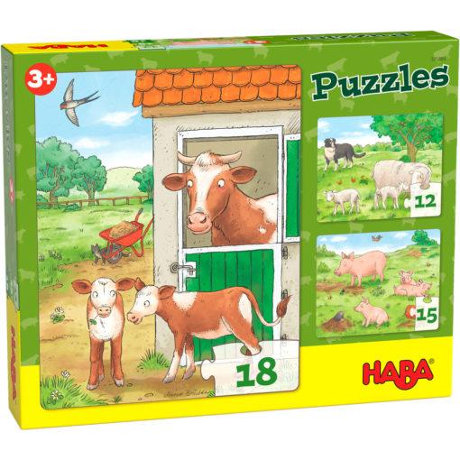 Puzzle Bauernhof Tierkinder