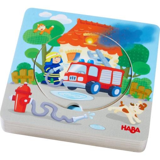 HABA Holzpuzzle Feuerwehr Einsatz 1