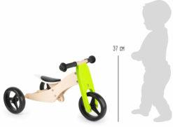 Dreirad Laufrad Trike 2-in-1 grün 4