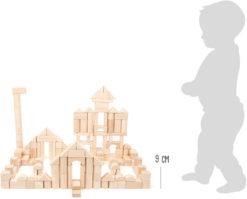 Holzbausteine natur im Beutel - Großpackung 6