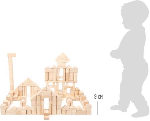 Holzbausteine natur im Beutel - Großpackung 3