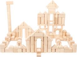 Holzbausteine natur Großpackung