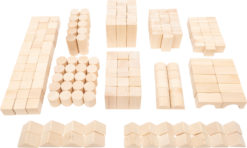 Holzbausteine natur im Beutel - Großpackung 4
