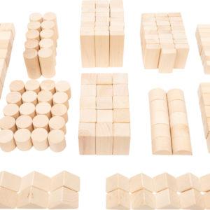 Holzbausteine natur im Beutel - Großpackung 1