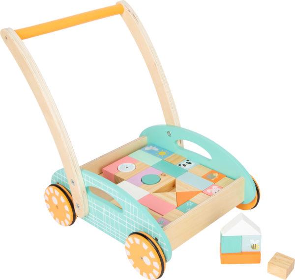 Lauflernwagen pastell aus Holz