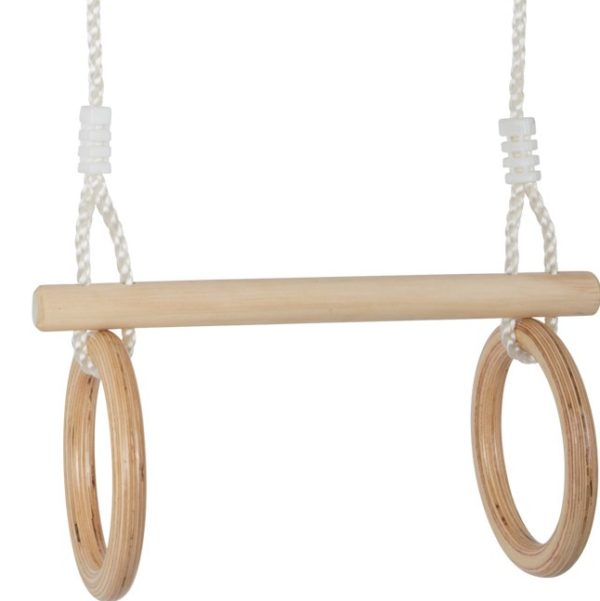 Trapez und Turnringe für Kinder aus Holz