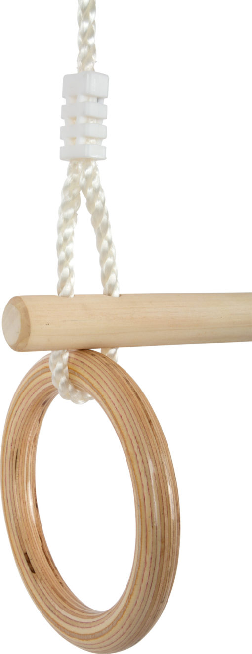 Trapez mit Turnringen aus Holz 3