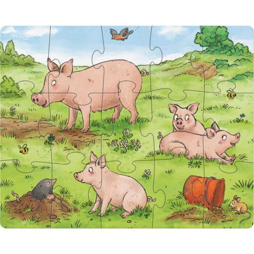 Puzzle Bauernhof Tierkinder 2