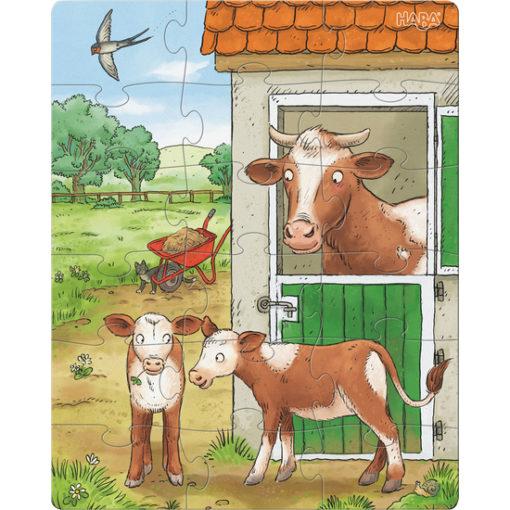 Puzzle Bauernhof Tierkinder 3