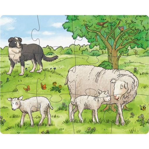 Puzzle Bauernhof Tierkinder 1