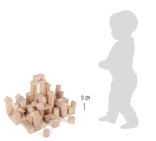 Holzbausteine natur im Beutel - 100 Stück 3