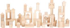 Holzbausteine natur im Beutel - 100 Stück 4