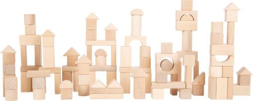 Holzbausteine natur im Beutel - 100 Stück 1