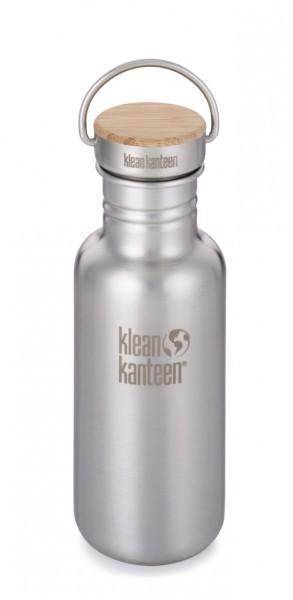 Klean Kanteen Edelstahl Trinkflasche Reflect 532ml Bambus-Schraubverschluss 1