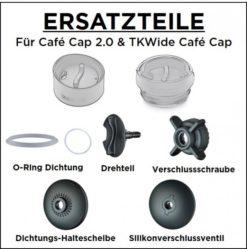 Klean Kanteen Edelstahl Isolierflasche TKWide 473ml Cafe Cap 6