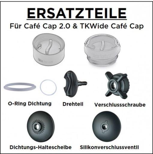 Klean Kanteen Edelstahl Isolierflasche TKWide 473ml Cafe Cap 3