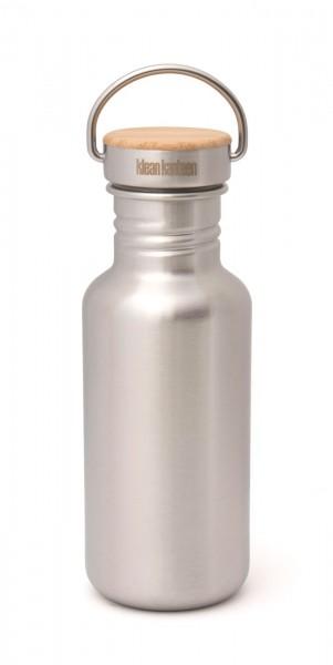 Klean Kanteen Edelstahl Trinkflasche Reflect 532ml Bambus-Schraubverschluss 2