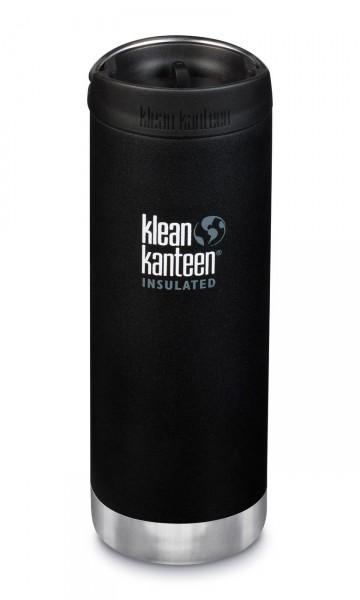 Klean Kanteen Edelstahl Isolierflasche TKWide 473ml Cafe Cap 1