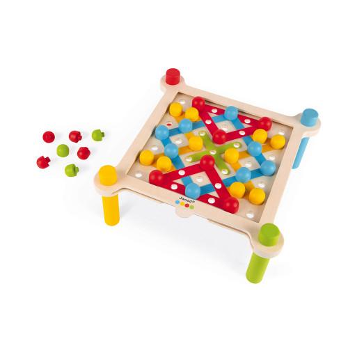 Janod Fädelspiel mit Webtisch 6