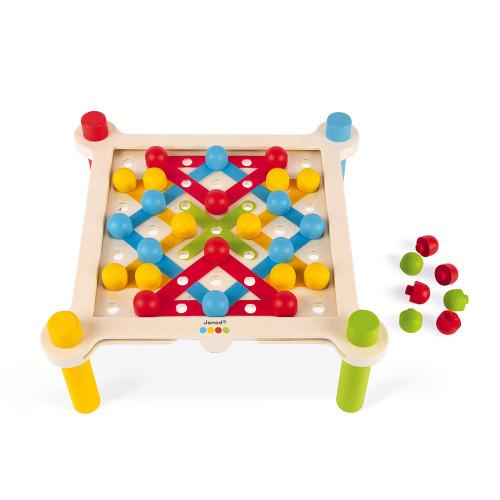 Janod Fädelspiel mit Webtisch 3