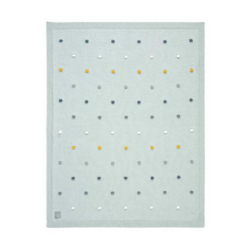 Lässig Babydecke Dots Light Mint 1
