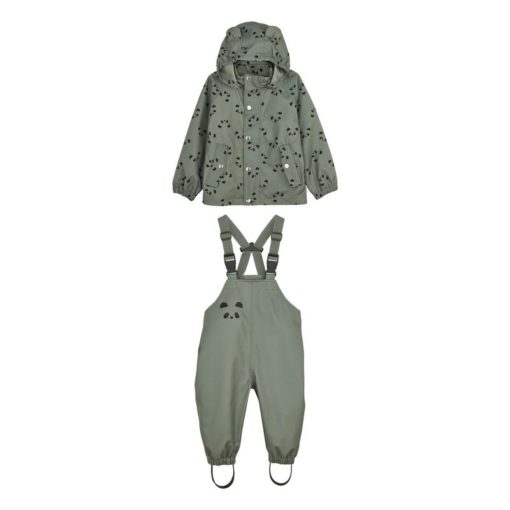 Liewood Regenbekleidung Dakota Mini - Panda faune Green 1