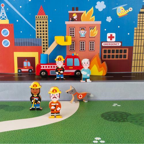 Janod Feuerwehr Mini-Set 4
